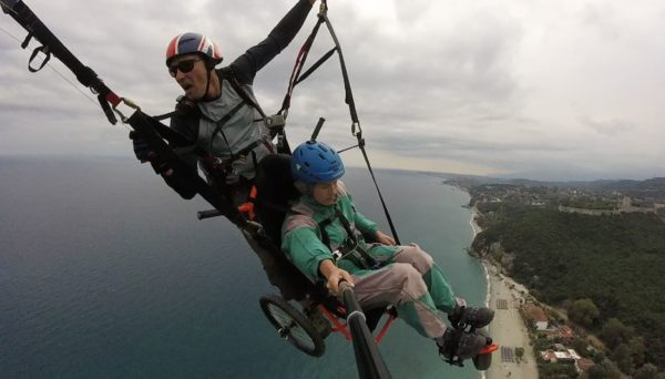 Wheelchair Paragliding for Disabled